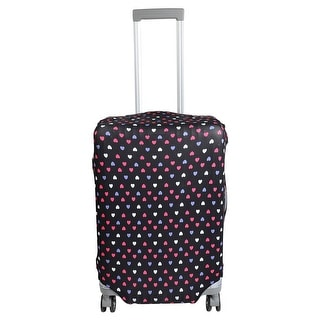 Luggage Elastic Polyester Heart Print Dust Resistant Washable Cover 22-26 Inch