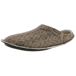 Crocs Mens Classic Mule Slippers Cable Knit Roomy Fit