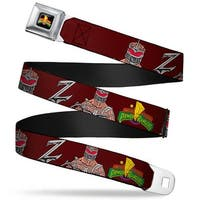 Power Rangers Logo Full Color Lord Zedd Poses Mighty Morphin Power Rangers Seatbelt Belt