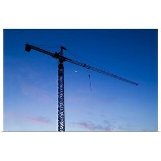 """Construction crane - twilight sky, Salt Lake City, Utah"" Poster Print"