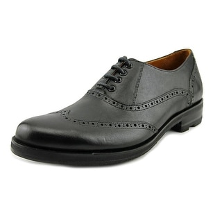 John Fluevog Andrew Men  Wingtip Toe Leather Black Oxford