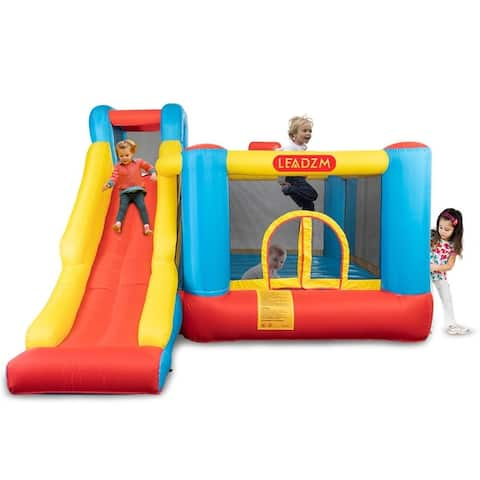 420D Oxford Cloth Inflatable Castle Jump 'n Slide Bounce House with Blower - 191*176cm