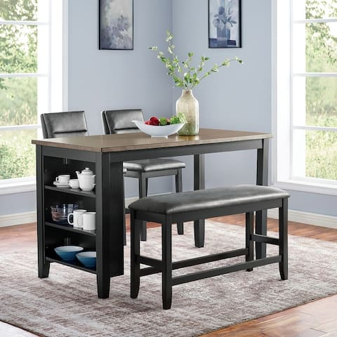 Furniture of America Erme Grey Counter Height Dining Set