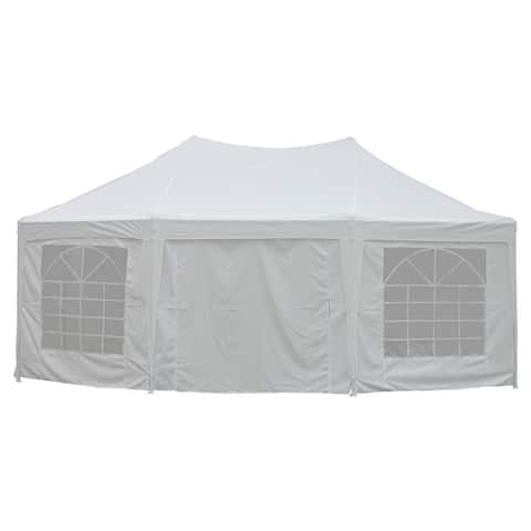 ALEKO Collapsible Octagonal Party Canopy 20 X 14 ft Event Tent