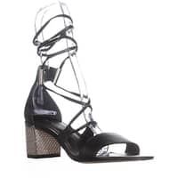 Calvin Klein Natania Lace-Up Dress Sandals, Black - 7.5 us / 37.5 eu