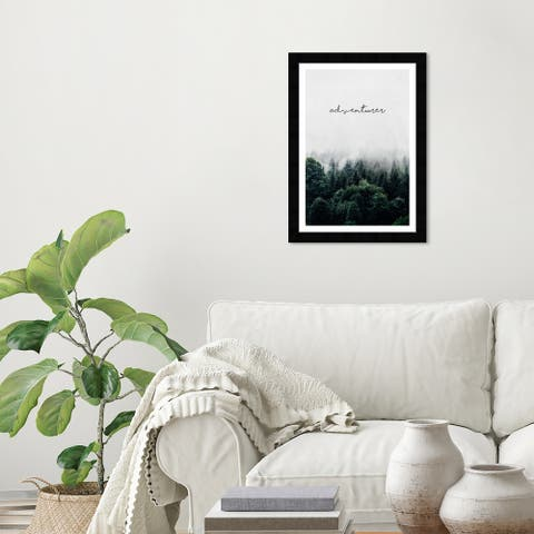 Wynwood Studio 'Adventurer Wilderness' Typography and Quotes Green Wall Art Framed Print