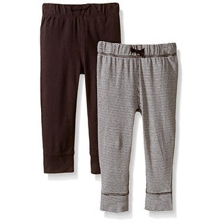 Carter's Baby Boys' 2 Pack Pants (Baby) - Brown/BrownStripe - Newborn