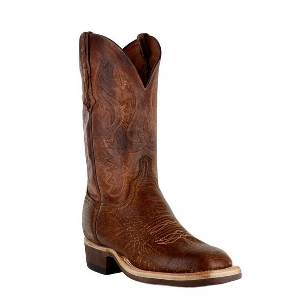 Lucchese Western Boots Mens Bison Pearwood Cognac .W8S