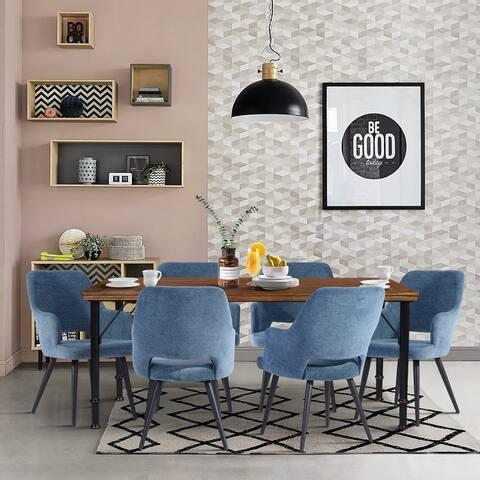 Furniture R Mid-Century Modern 7-Piece Dining Set