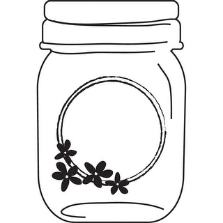 "Cam & Chloe Mounted Stamp 3.5""X2.5""-Flower Jar"