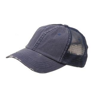 Low Profile Special Cotton Mesh Cap-Navy