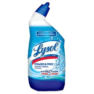 Lysol 85020 Power And Free Toilet Bowl Cleaner, Cool Spring Breeze, 24 Oz.