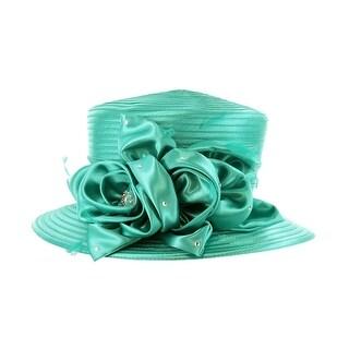ChicHeadwear Braid Hat w/ Flower and Stones - One size