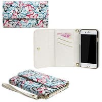 JAVOedge?Butterfly Clutch Wallet Case with Matching Wristlet for iPhone 6 Plus (5.5 inch) - Butterfly