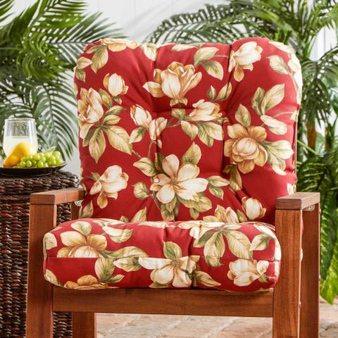Dunedin Outdoor Floral Seat/ Back Combo Cushion by Havenside Home - 21w x 38l