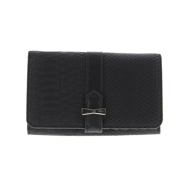Nine West Womens Table Treasures Clutch Wallet Faux Leather Embossed Snake - o/s
