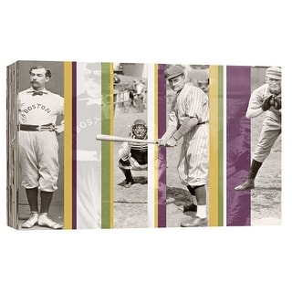 """PTM Images 9-102221  PTM Canvas Collection 8"""" x 10"""" - """"Vintage Baseball"""" Giclee Baseball Art Print on Canvas"""