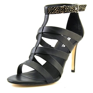 Charles David Intellect Open-Toe Leather Heels
