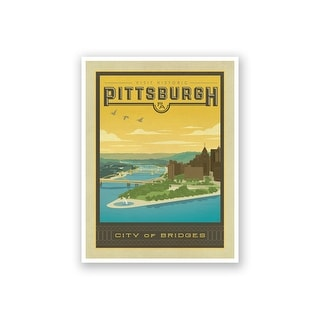 Pittsburgh - Anderson Design Group - 18x14 Matte Poster Print Wall Art