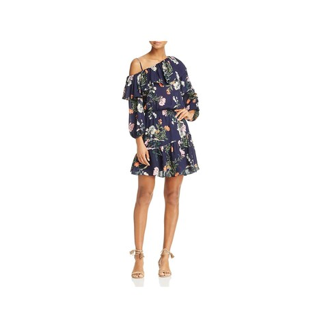 Parker Womens Clarisse Cocktail Dress Silk Floral Print