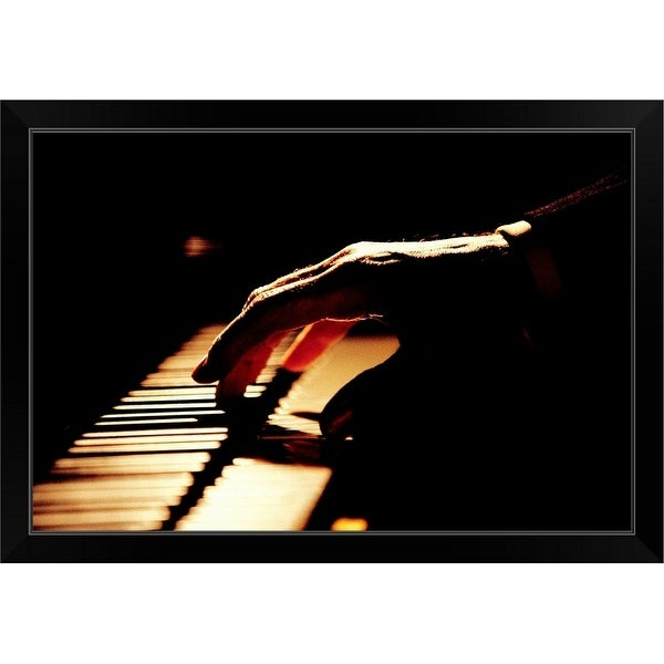 """Pianist"" Black Framed Print"