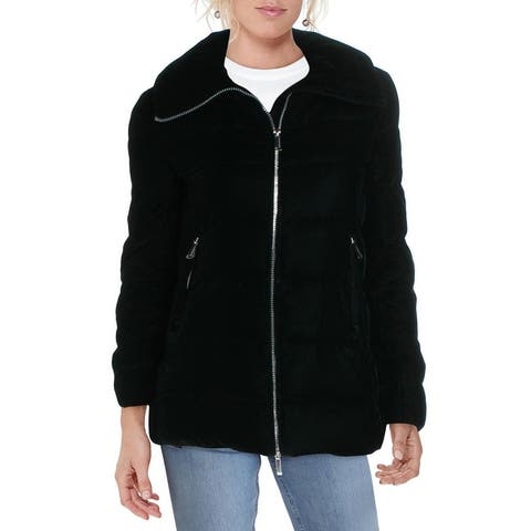 BCBGeneration Women's Quilted Down Fill Winter Puffer Coat - Emerald