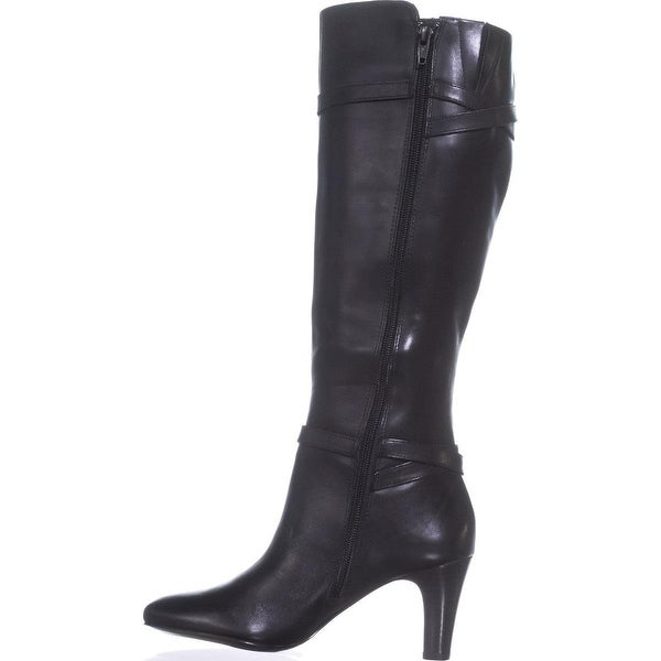 3a8f9a052 Ralph Lauren Womens Sabeen Leather Closed Toe Knee High Fashion Boots - 10