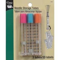 Clear 3/Pkg - Needle Storage Tubes