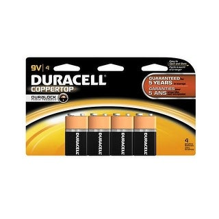 Duracell Coppertop MN16B4DW Alkaline Batteries, 9 Volt