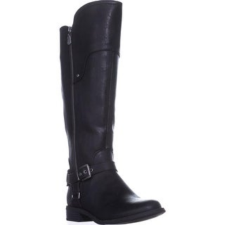 G by Guess Harson Wide Calf Flat Knee-High Boots, Black Multi