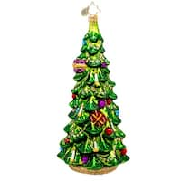Christopher Radko Glass Christmas Glow Spruce Tree Holiday Ornament #1017468