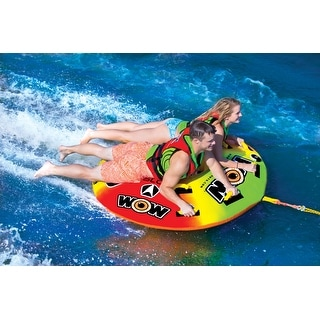 WOW Sports Uto Galaxy 1-2 Person Towable Water Tube For Pool and Lake (18-1080)