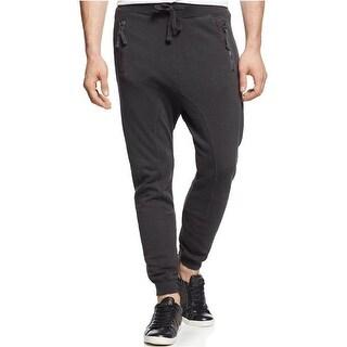 Jet Lag Drop Crotch Jogger Pants Small S Charcoal Grey Cotton Sweatpants