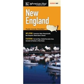 Universal Map 14627 New England Regional Fold Map
