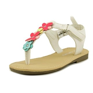 Carter's Nala Toddler Open Toe Synthetic White Thong Sandal