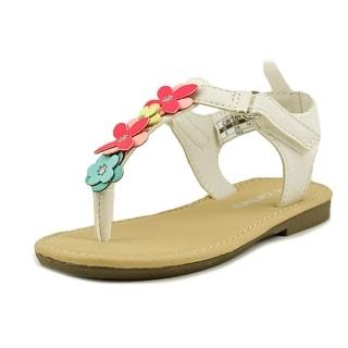 Carter's Nala Youth Open Toe Synthetic White Thong Sandal