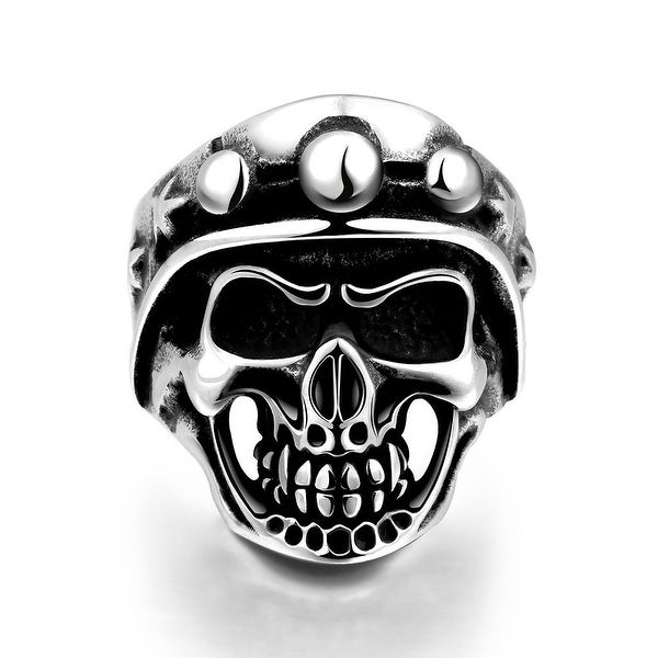 Vienna Jewelry The Skull's Crown Stainless Steel Ring