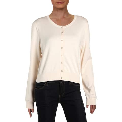 DKNY Womens Shrug Sweater Snap Front Short