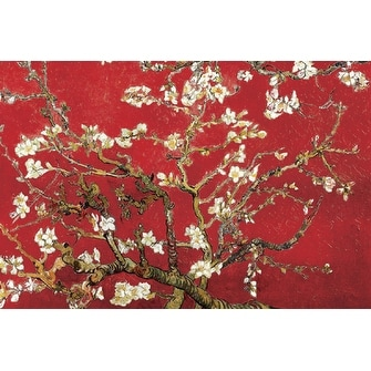 ''Almond Blossom in Red'' by Vincent van Gogh Huntington Graphics Art Print (24 x 36 in.)