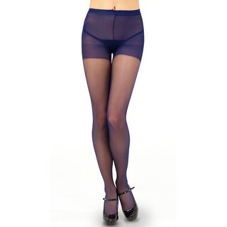 Sheer Control Top Pantyhose, Solid Color Pantyhose - One Size Fits most