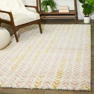 Link to Elena Abstract Moroccan Shag Area Rug Similar Items in Shag Rugs