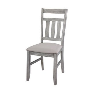 "Powell Home Fashions 457-434X  Turino 19"" Wide Wood Framed Polyester Dining Chair - Grey Oak"