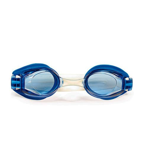"""7"""" Blue and Clear V5 View Goggles Swimming Pool Accessory for Adults"""