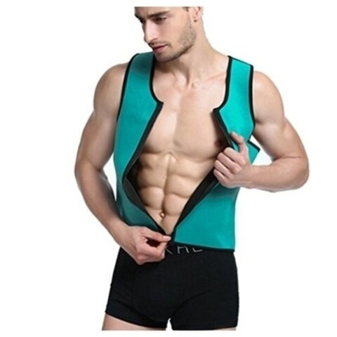 Men's Neoprene Vest Slimming Shirt for Weight Loss Workout With Zipper