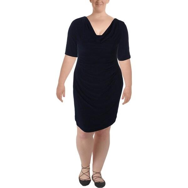 9509b99ee80 Shop Lauren Ralph Lauren Womens Wear to Work Dress Matte Jersey Cowl ...