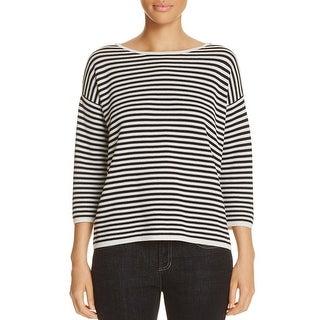 Eileen Fisher Womens Casual Top Striped Bateau Neck - xL