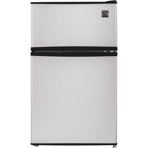 Kenmore 3.2-Cu. Ft. 2-Door Compact Refrigerator, Silver