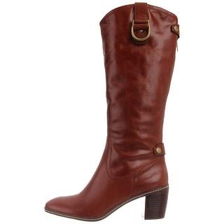 Anne Klein Womens brenton Almond Toe Mid-Calf Fashion Boots