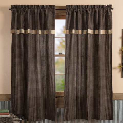 Kettle Grove Short Panel with Attached Valance Block Border Set of 2 63x36 - Short Panel 63x36 - Short Panel 63x36