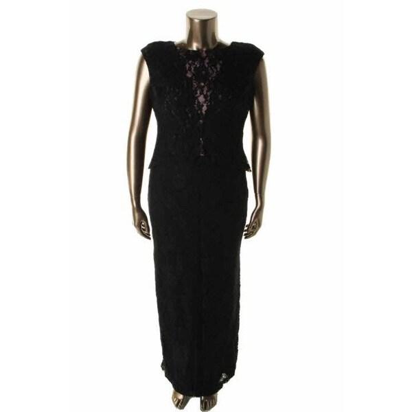 Ralph Lauren Womens Evening Dress Lace Sleeveless 2